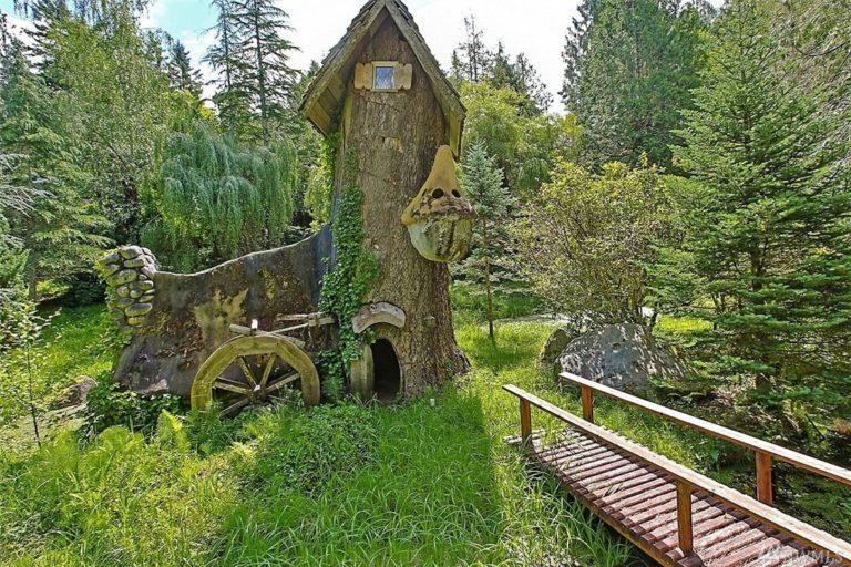 Unusual Home.stump house in Olalla