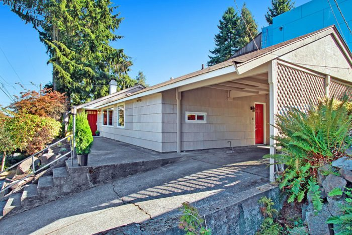 Mid-century home for sale in Seattle