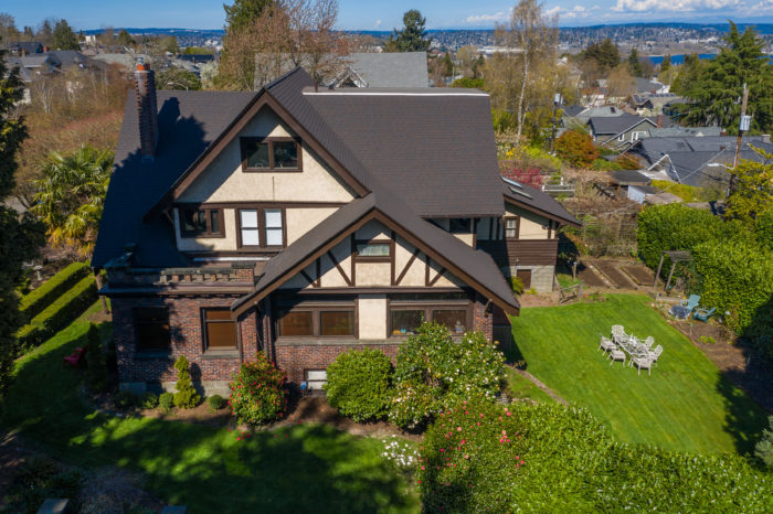Seattle Real Estate for Sale. drone view of Capitol Hill home